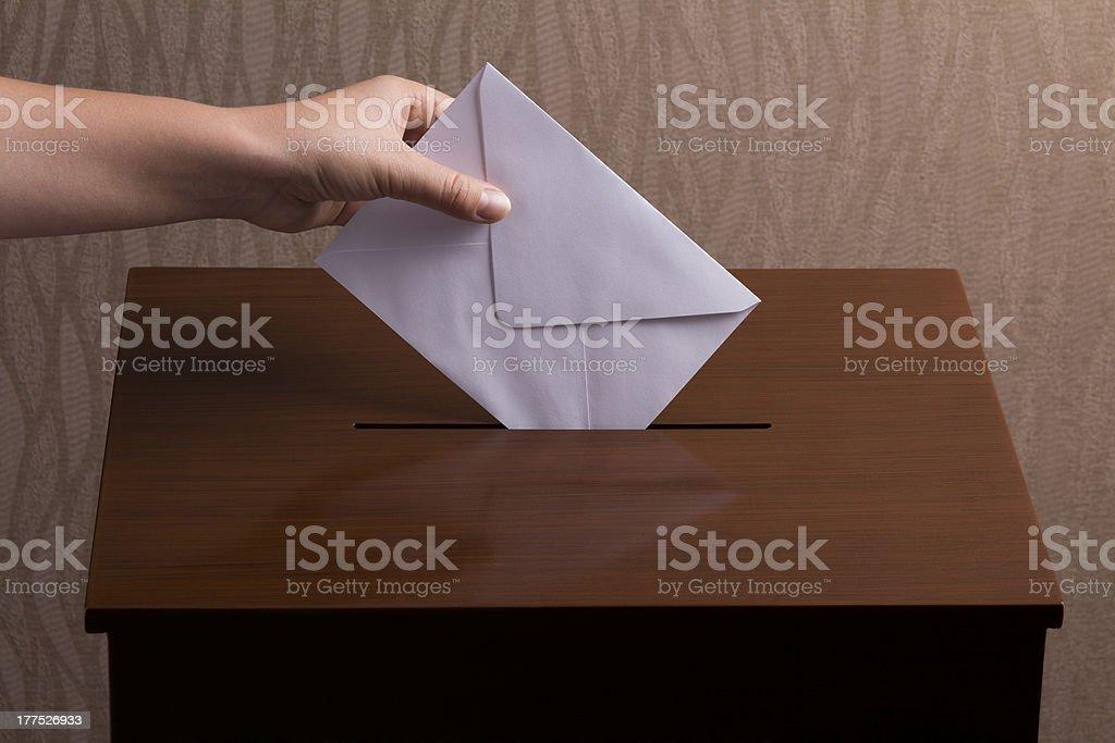 Ballot Box stock photo