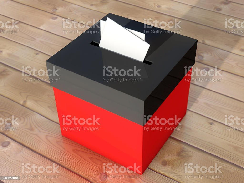 Ballot box to vote stock photo
