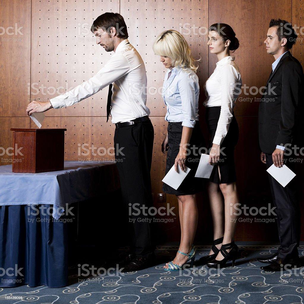Ballot Box Vote royalty-free stock photo