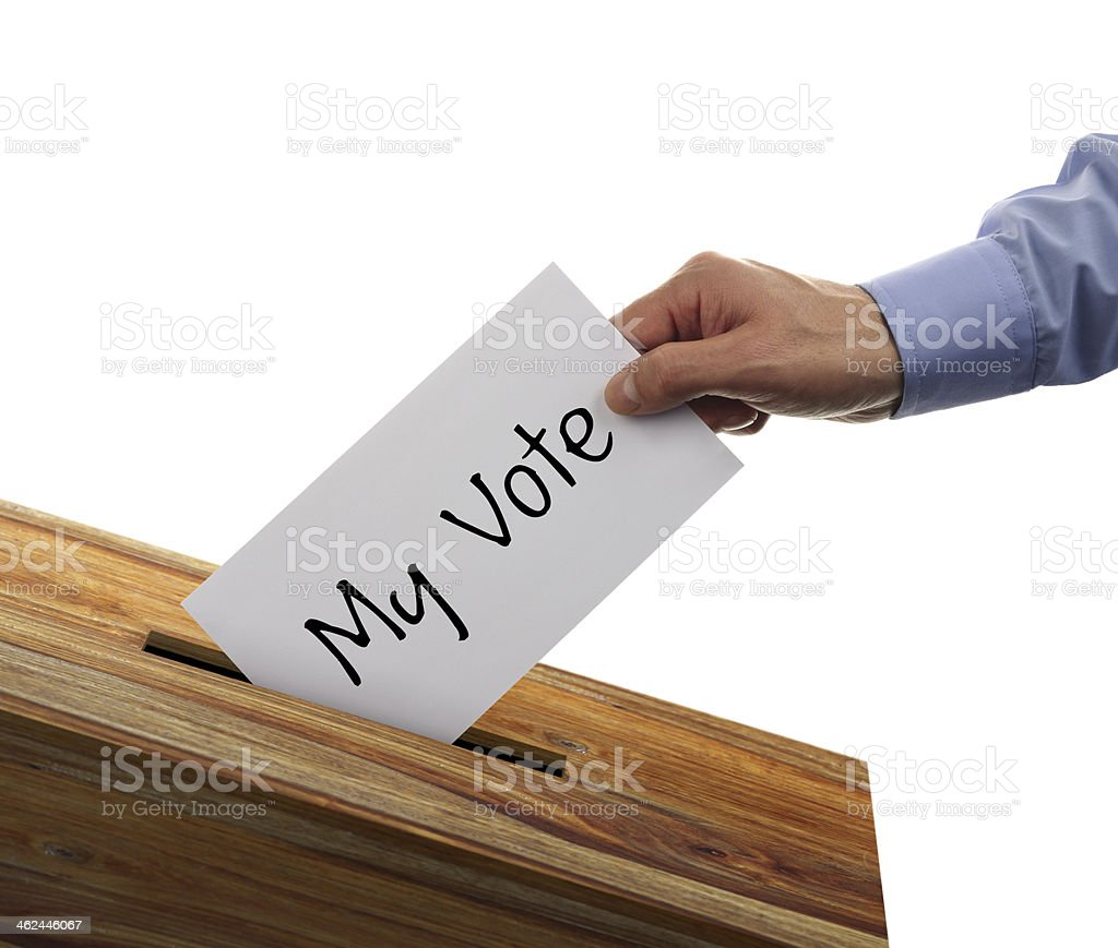 Ballot box voting stock photo