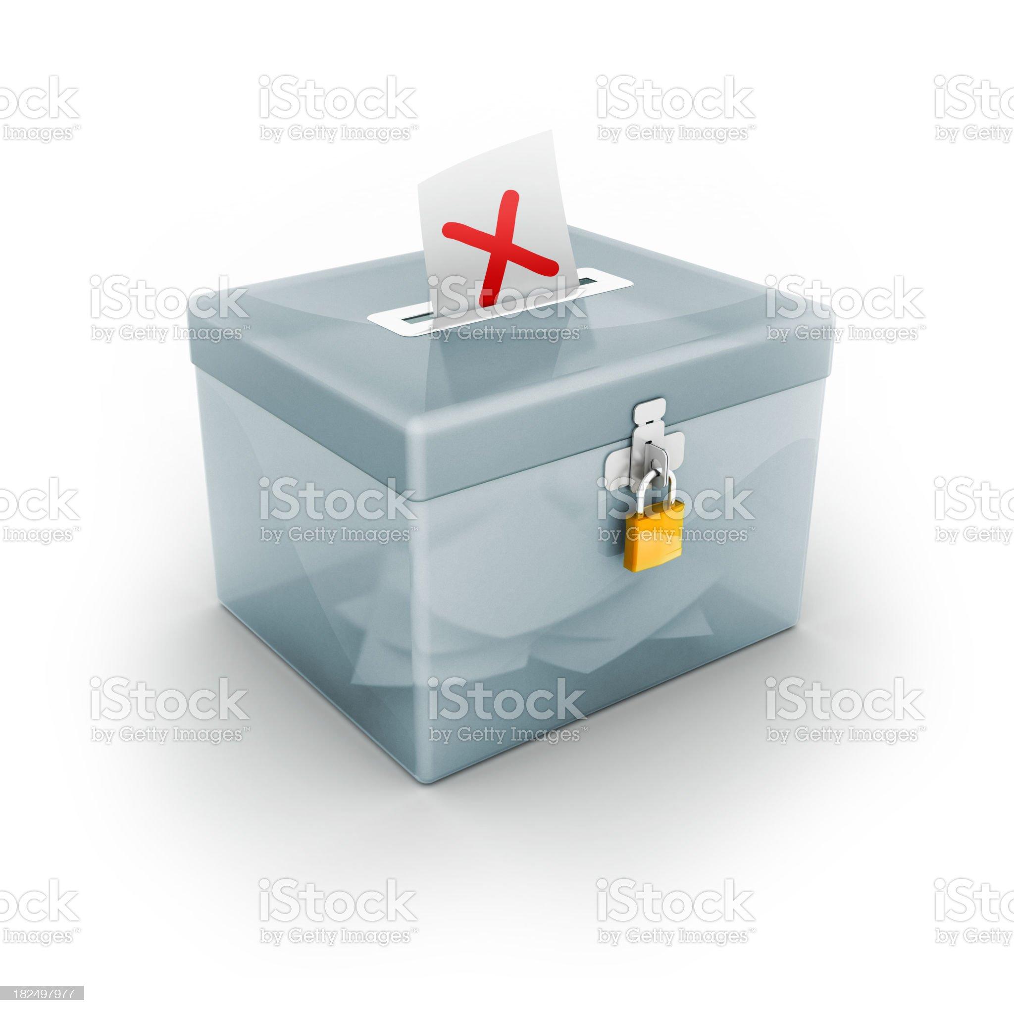 ballot box with x royalty-free stock photo