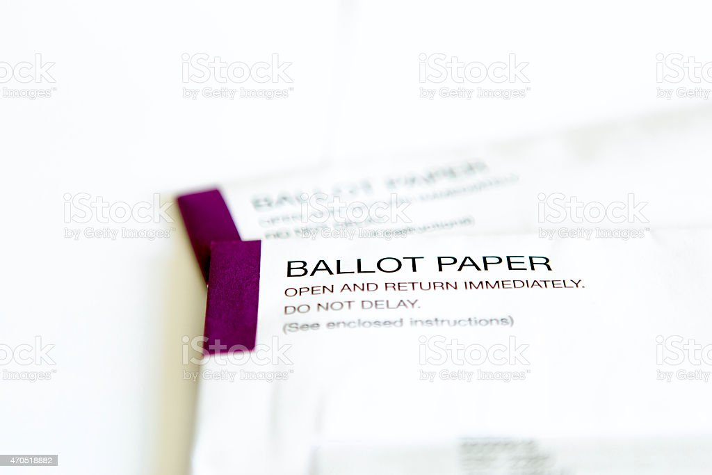 UK Ballot Papers stock photo