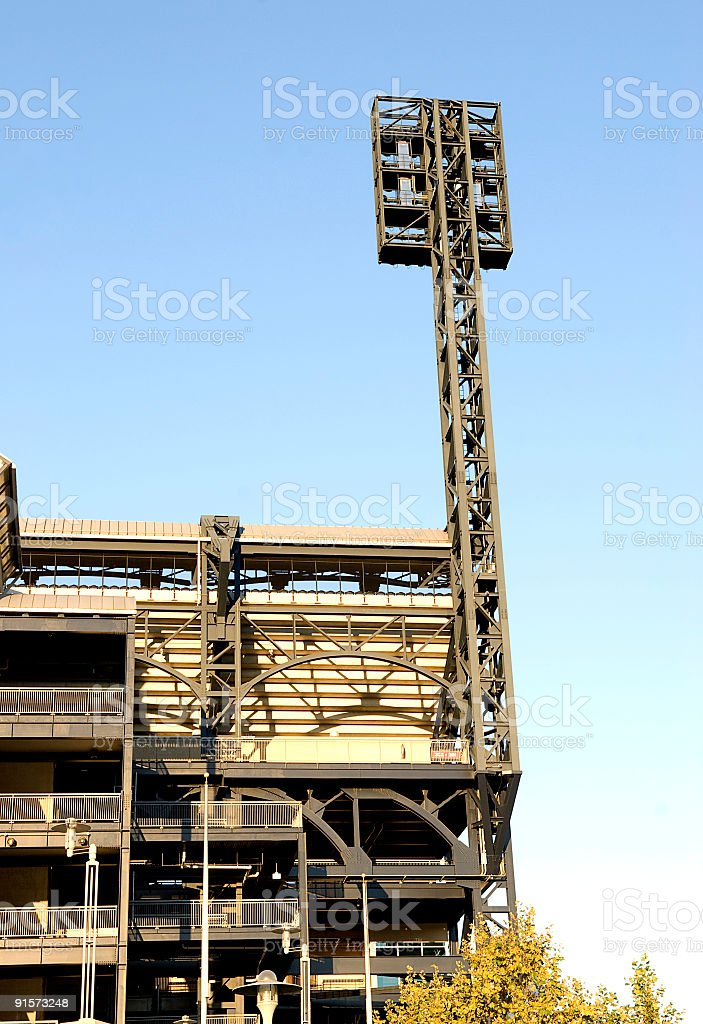 Ballpark Backview stock photo