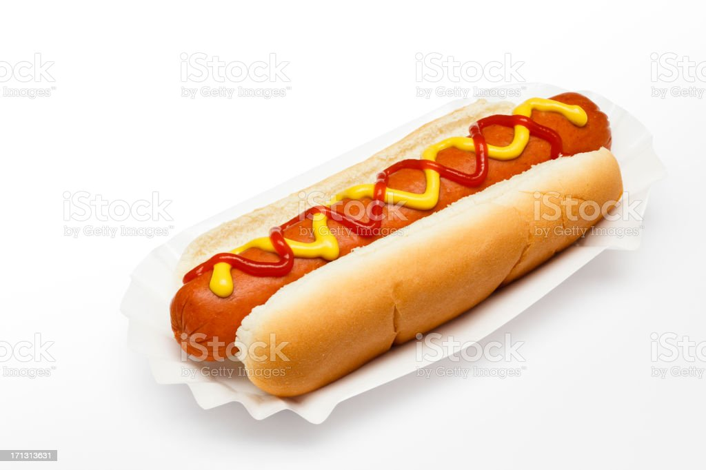 Ballpark Hotdog (path) royalty-free stock photo