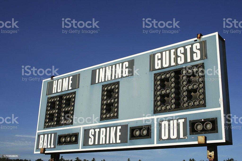 Ballpark - Scoreboard 01 royalty-free stock photo