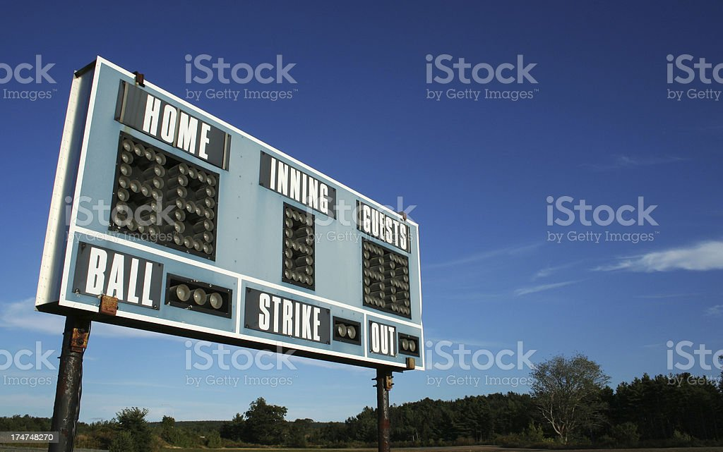 Ballpark - Scoreboard 02 royalty-free stock photo