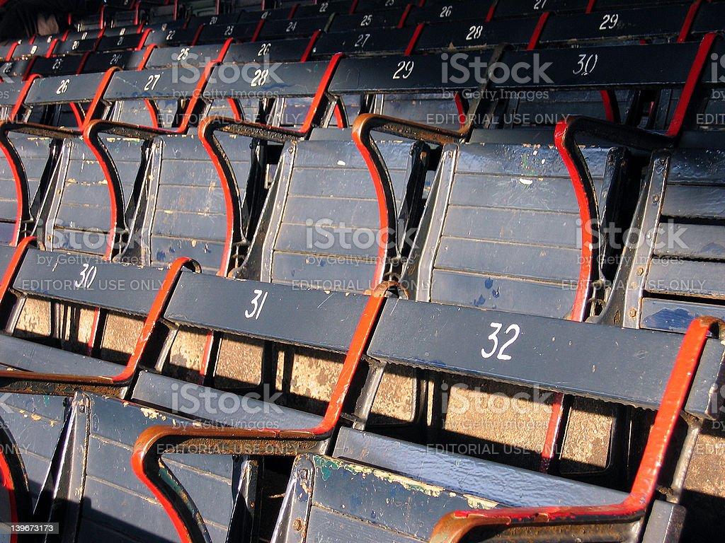 Ballpark Seats royalty-free stock photo