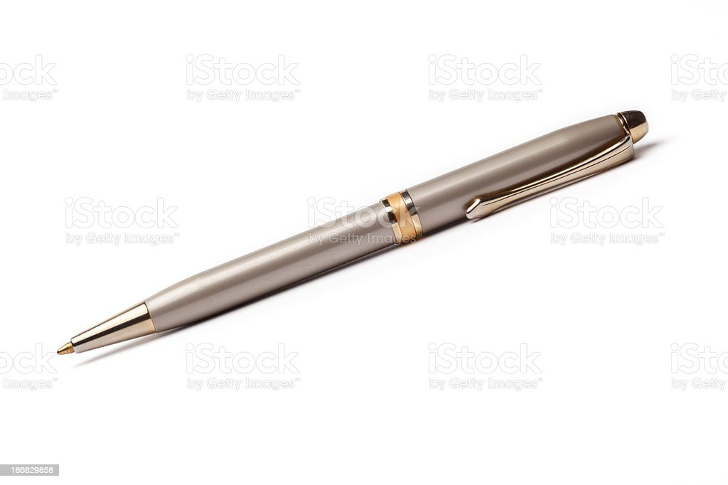 Ballpoint pen on white background royalty-free stock photo