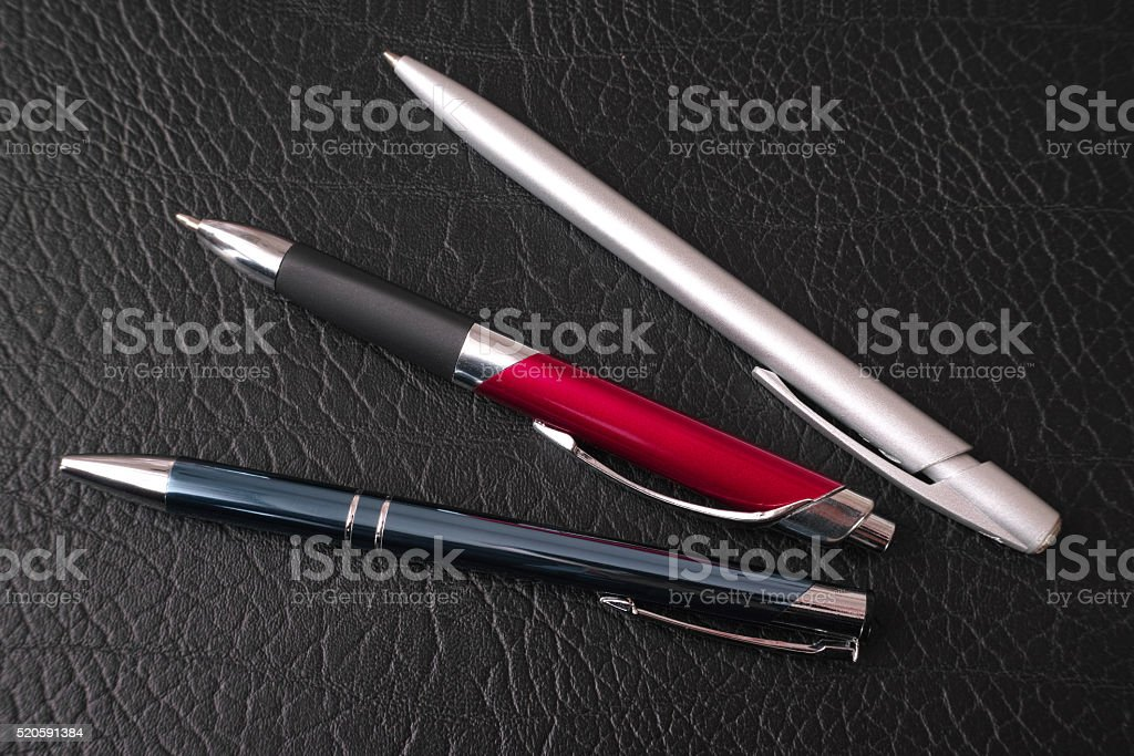 Ballpoint pens royalty-free stock photo