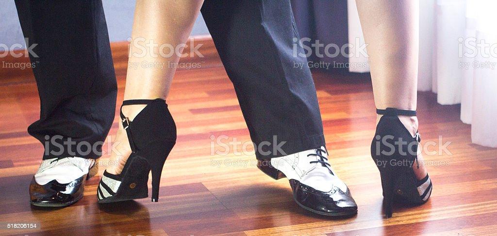 Ballroom dance latin dancers stock photo