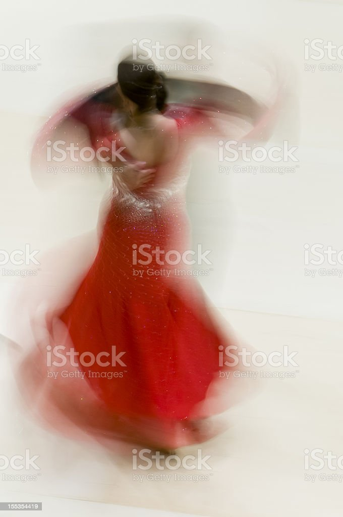 Ballroom dancers abstract royalty-free stock photo