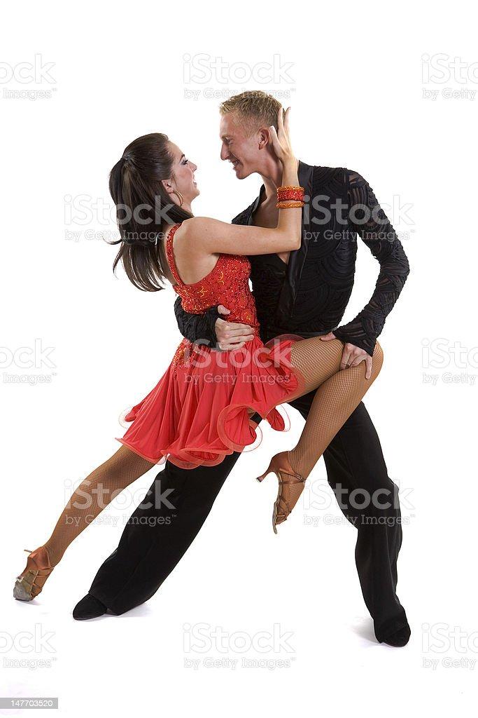 Ballroom Dancers Latin 08 royalty-free stock photo
