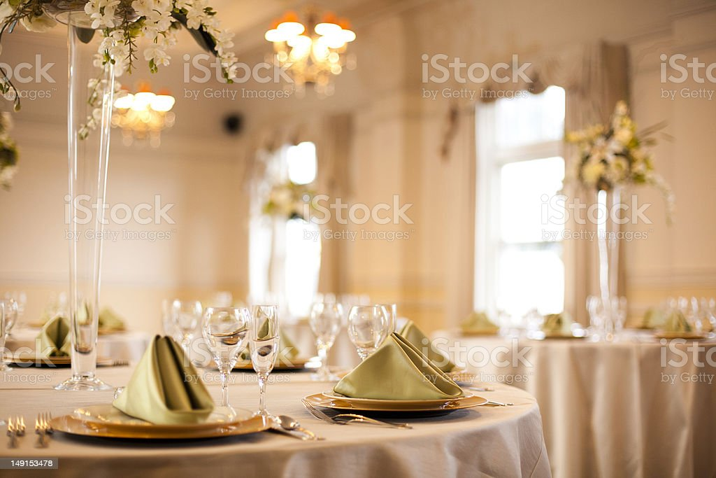 Ballroom Event Dinner stock photo