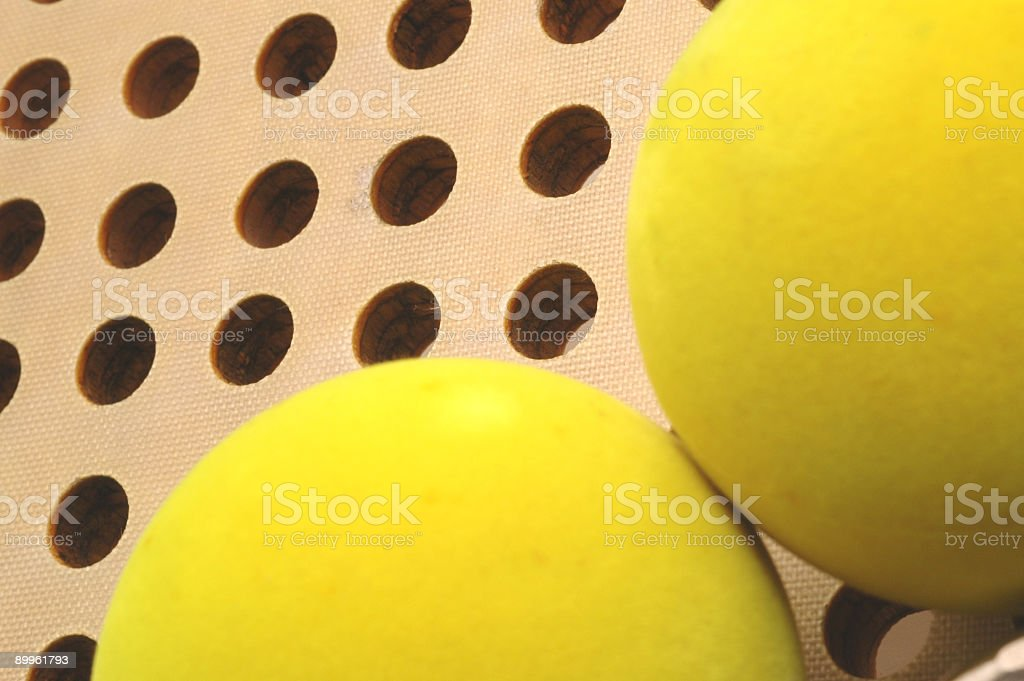 balls and paddle 3 stock photo