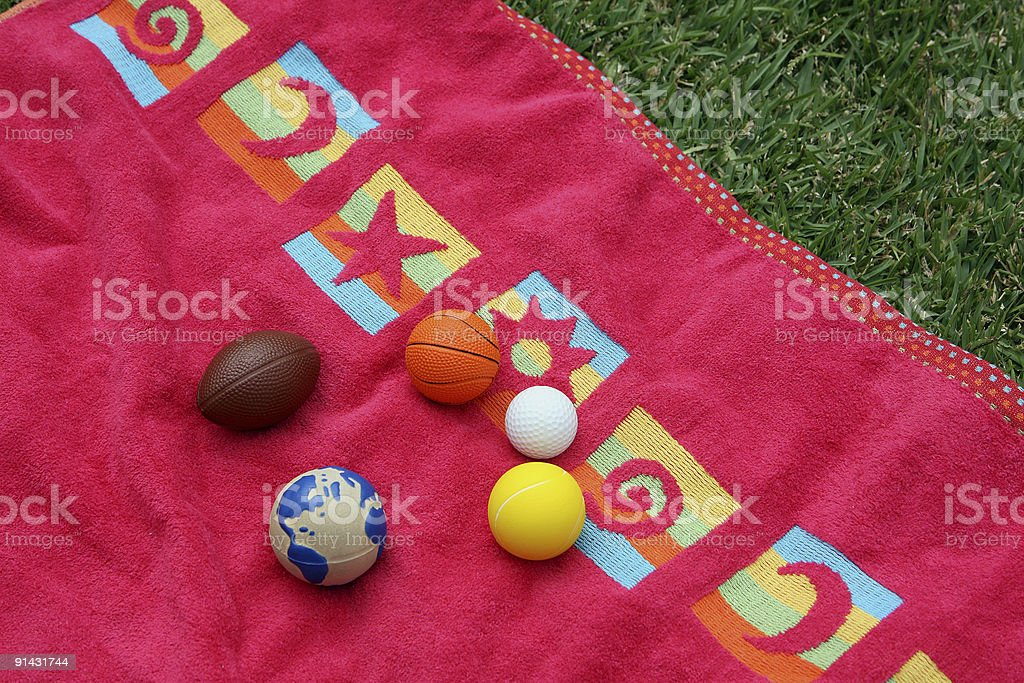 balls and towel royalty-free stock photo
