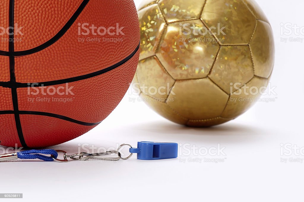 Balls and whistle 5 stock photo