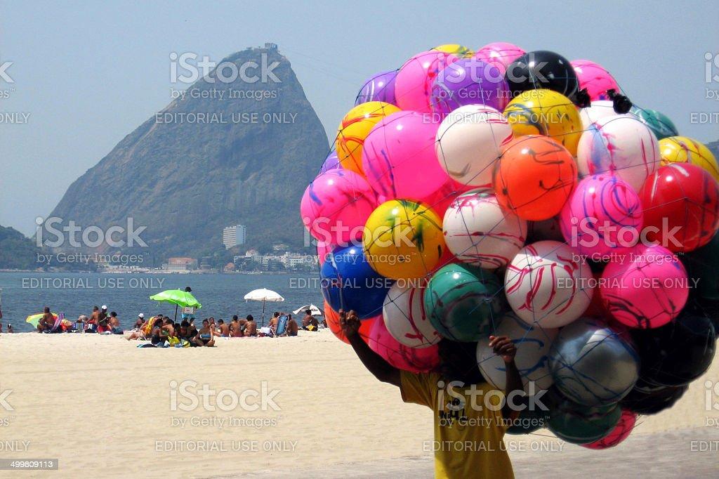 Balls in Rio de Janeiro city stock photo