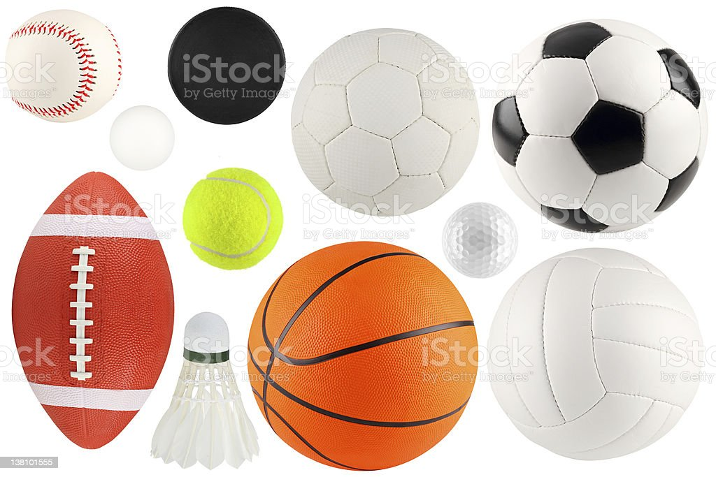 balls in sport 1 royalty-free stock photo