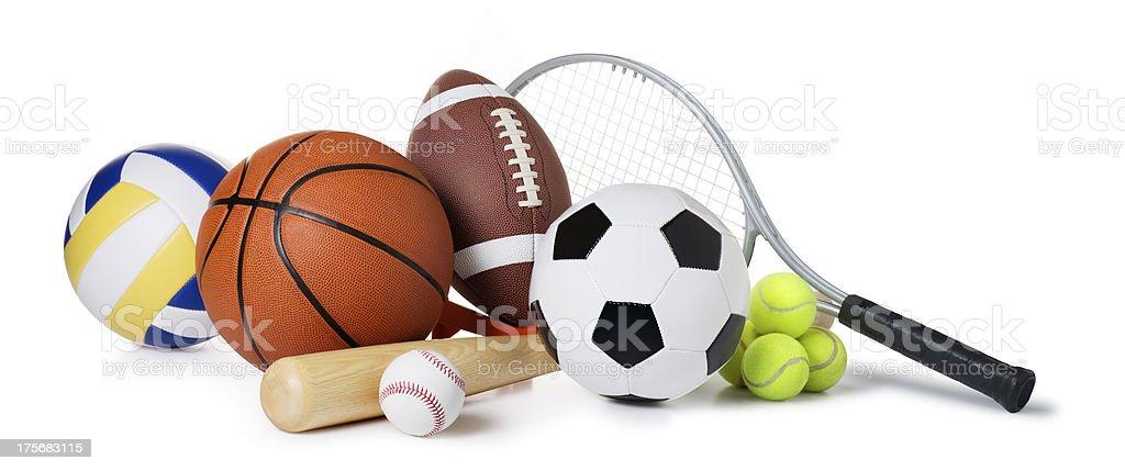 Balls Isolated on White stock photo