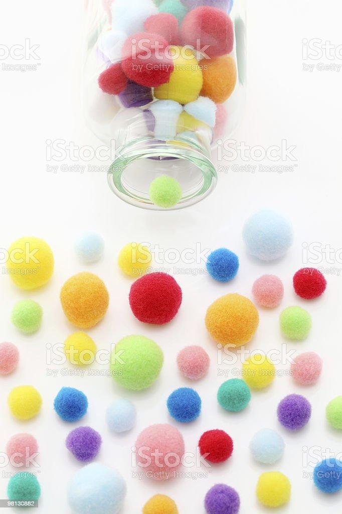 Balls of cotton stock photo