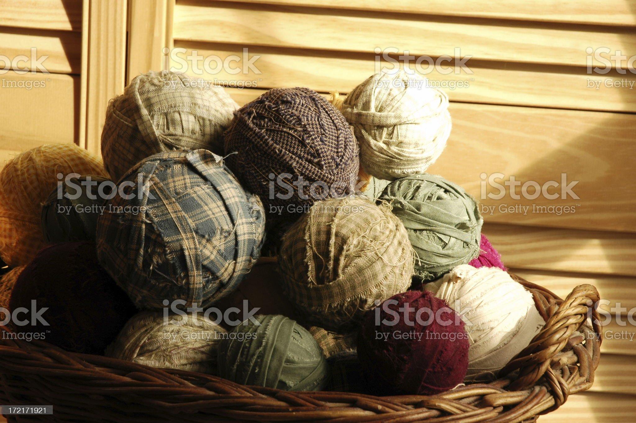 balls of fabric royalty-free stock photo