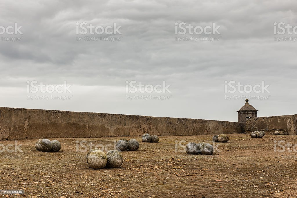 Balls of old wars stock photo