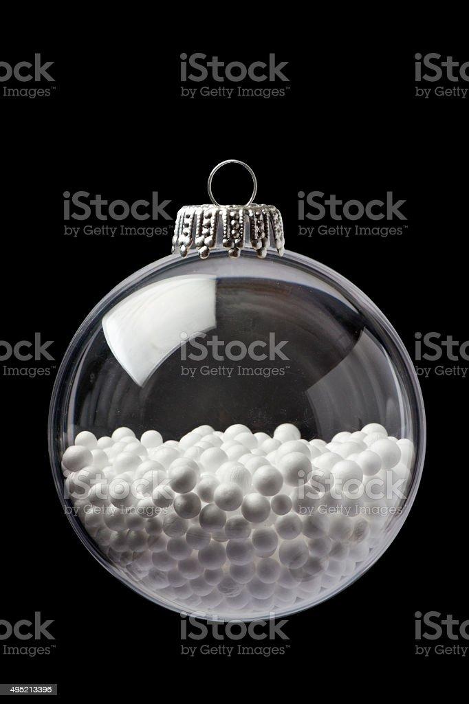Balls of Styrofoam In a Christmas Ornament stock photo