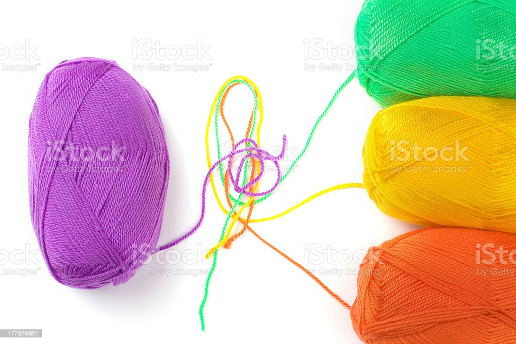balls of thread royalty-free stock photo