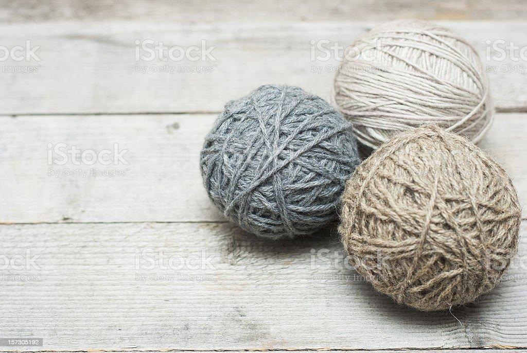 Balls of wool stock photo