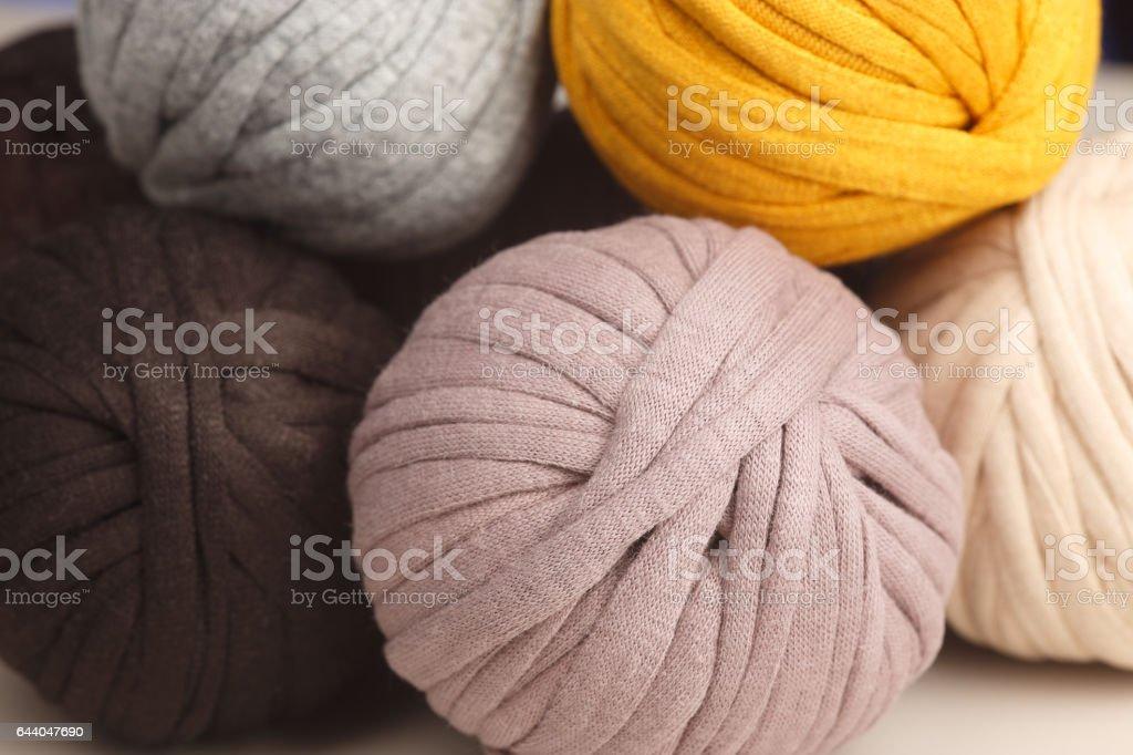 Balls of yarn stock photo