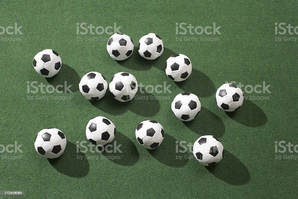 Balls on the field royalty-free stock photo