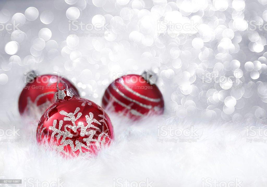 balls red xmas decoration stock photo