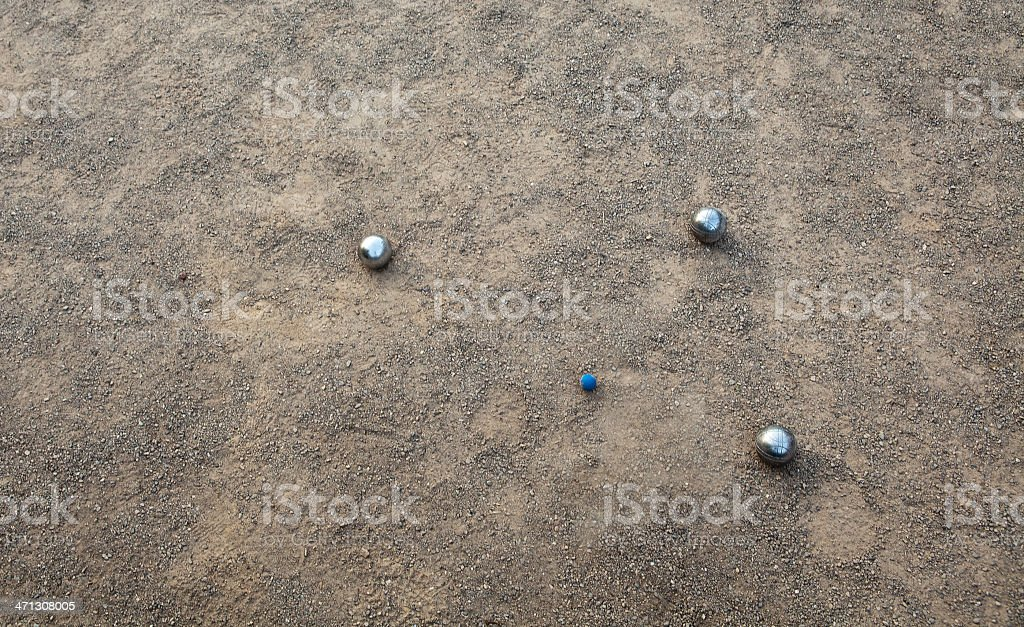 Boules situation royalty-free stock photo