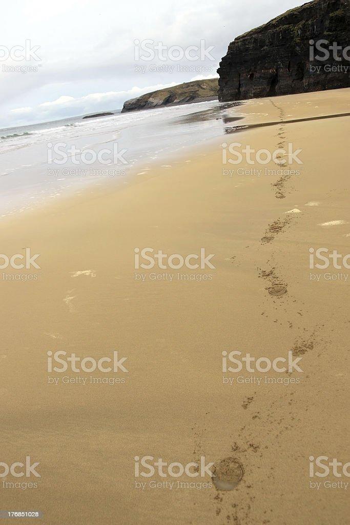 ballybunion beach horse hoofprints royalty-free stock photo