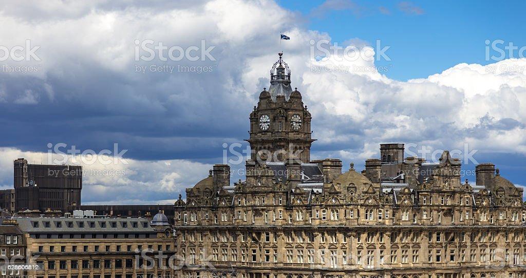 Balmoral Clock Tower, Edinburgh stock photo