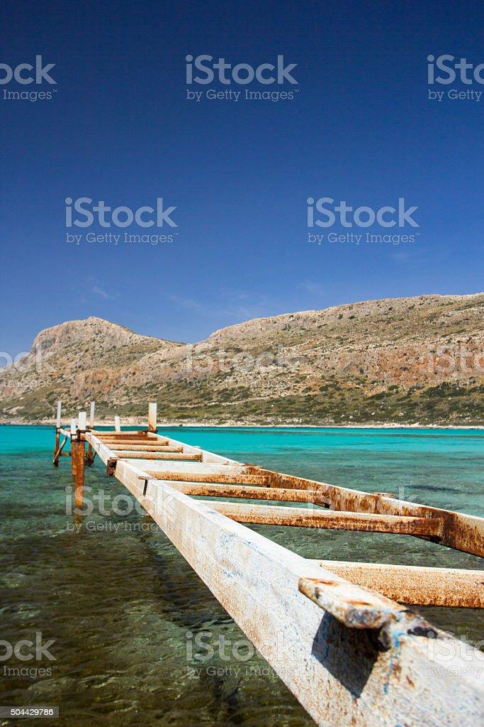 Balos Beach in Kissamos, Crete stock photo