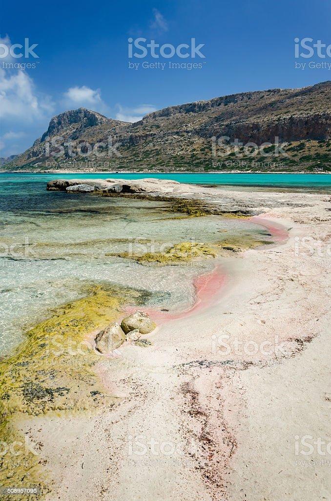 Balos Beach - Island Crete, Greece stock photo