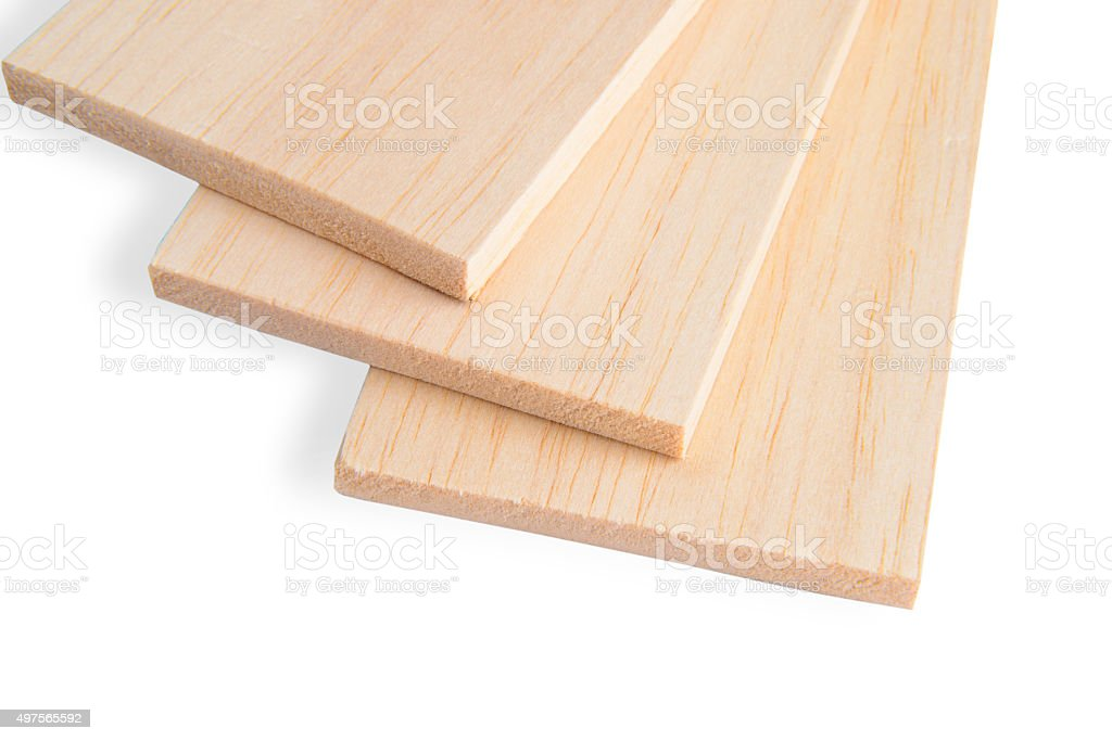 Balsa plank stock photo