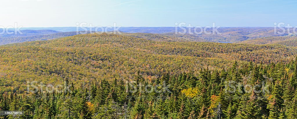 Balsam Lake Mountain Looking West royalty-free stock photo