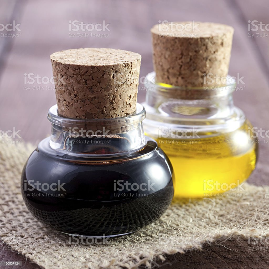 balsamic and oil stock photo