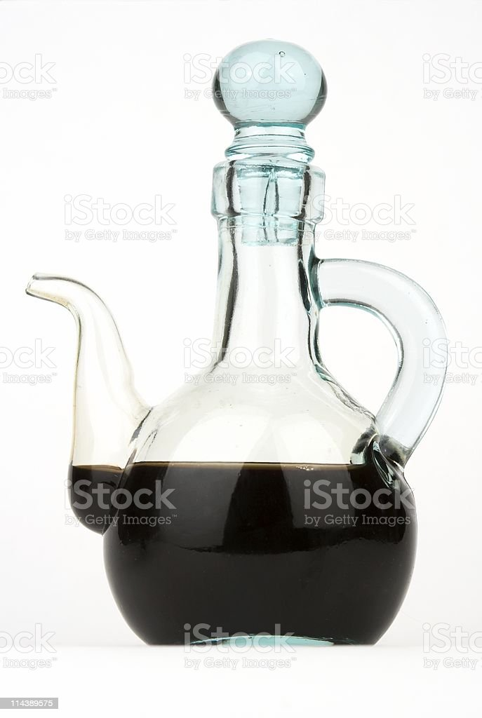 Balsamic Vinegar In Glass Pourer stock photo