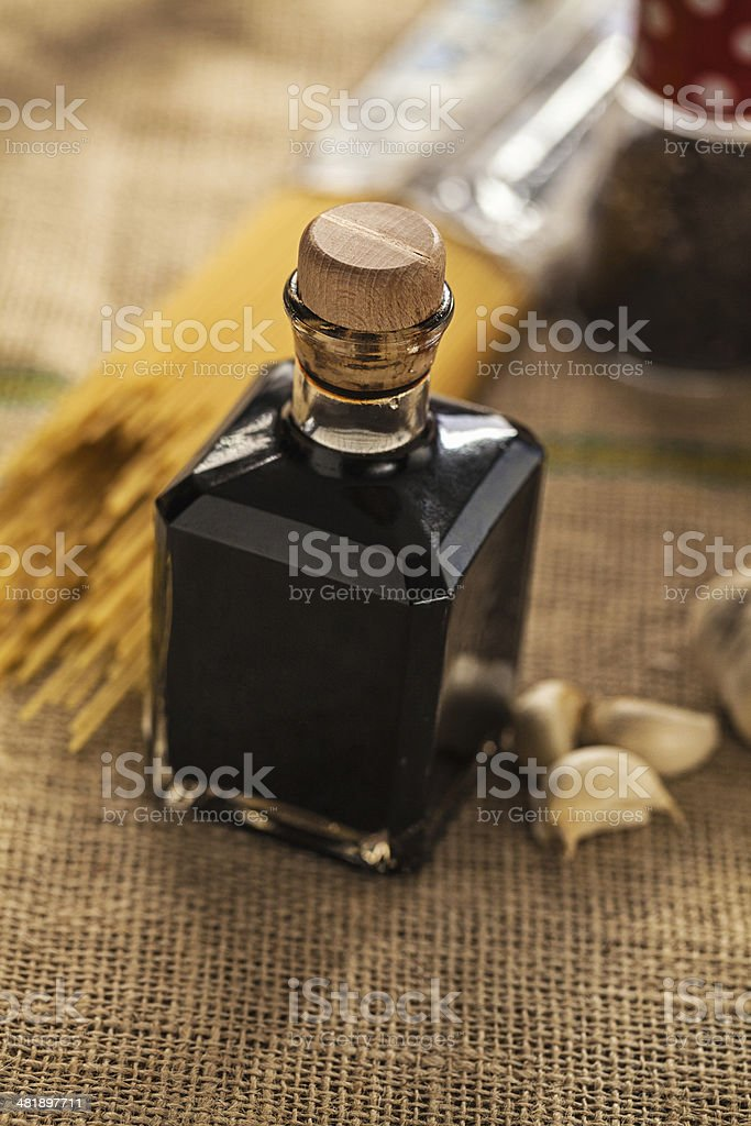 Aceto balsamico di Modena stock photo