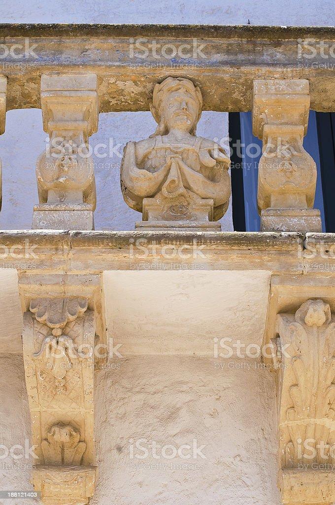 Balsamo palace. Specchia. Puglia. Italy. stock photo