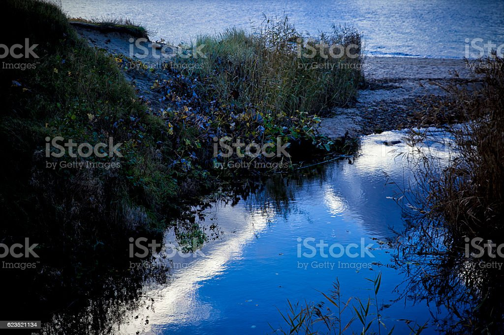 Baltic Blue Hour stock photo