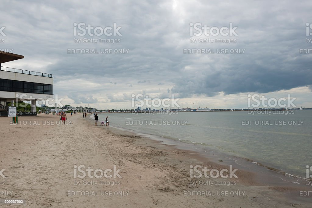 Baltic coast in Pirita, Tallinn, Estonia stock photo