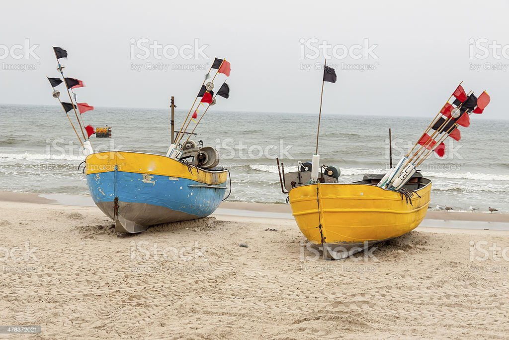 Baltic coast - Rewal, Poland. stock photo