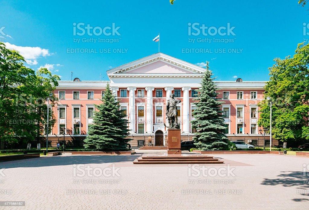 Baltic Fleet headquarters building, Kaliningrad stock photo