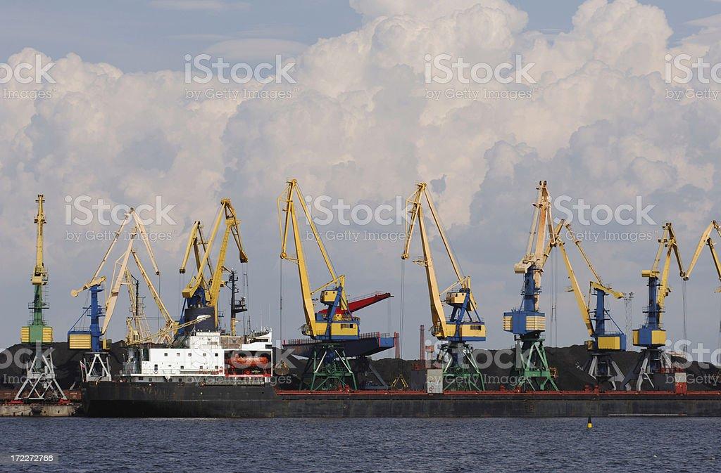 Baltic port royalty-free stock photo