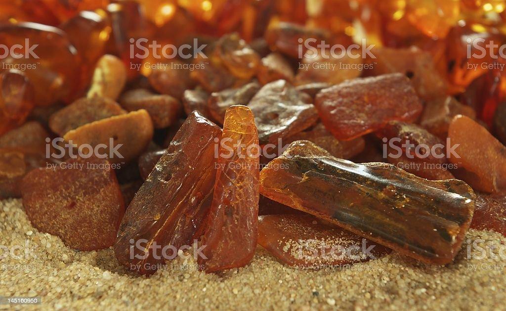 Baltic Sea Amber royalty-free stock photo
