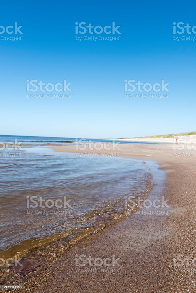 Baltic Sea and Curonian Spit in Lithuania stock photo